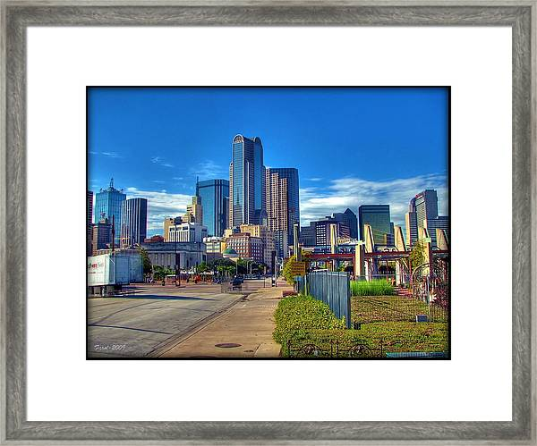 Dallas Skyline Framed Print