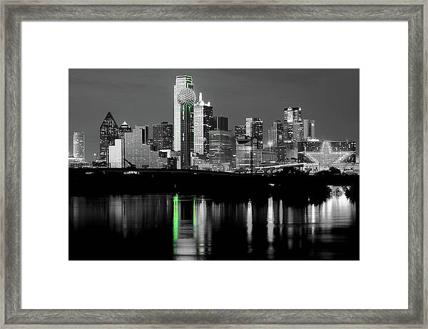 Dallas Skyline Gr91217 Framed Print