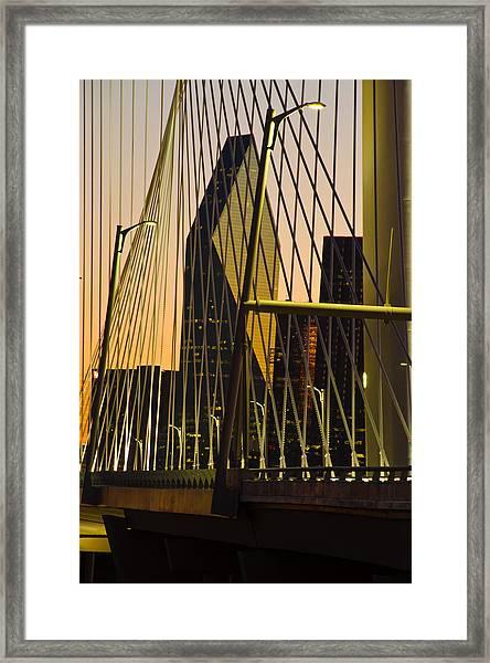 Dallas Through Bridge Framed Print