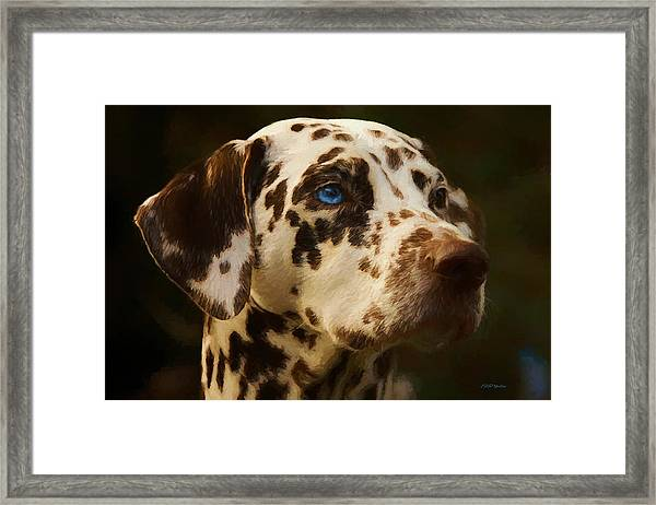 Framed Print featuring the painting Dalmatian - Painting by Ericamaxine Price