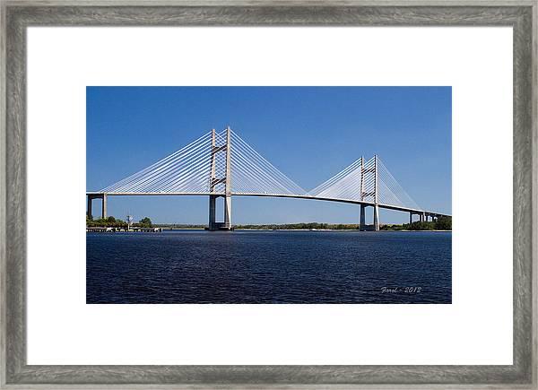 Dames Point Bridge Framed Print