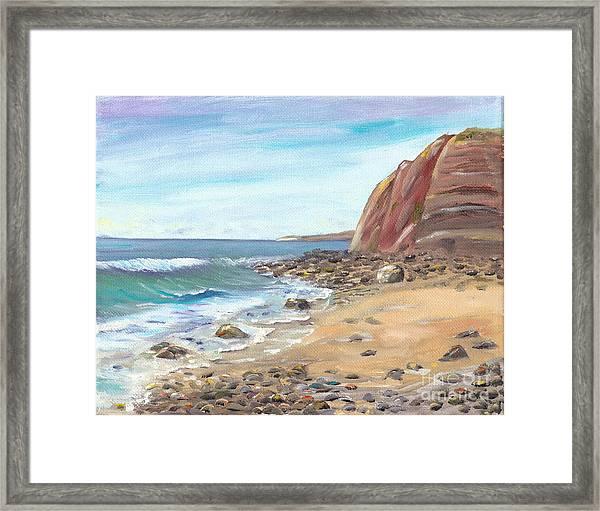 Dana Point Beach Framed Print