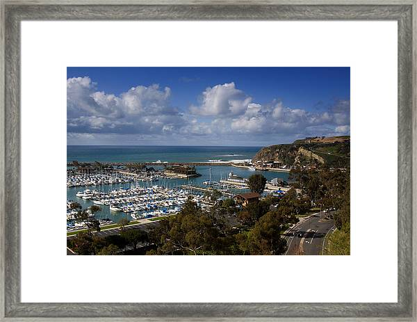 Dana Point Harbor California Framed Print