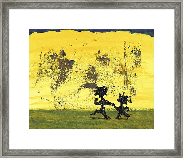 Dance Art Dancing Couple 147 Framed Print