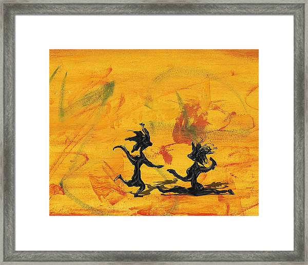 Dance Art Dancing Couple 238 Framed Print