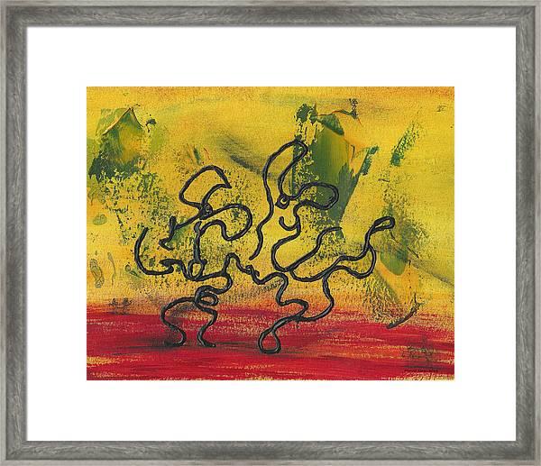 Dance Art Dancing Couple 57 Framed Print
