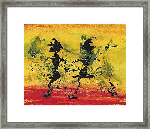 Dance Art Dancing Couple Viii Framed Print