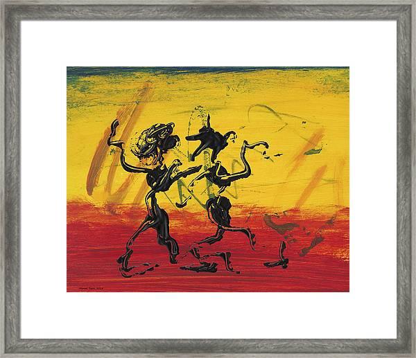 Dance Art Dancing Couple Xii Framed Print