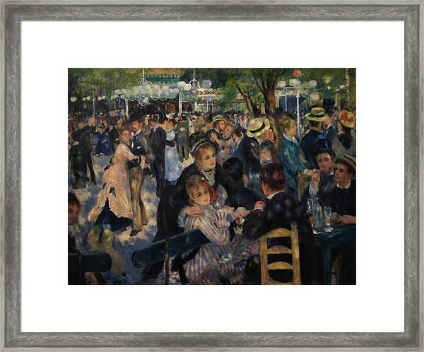 Dance At Moulin De La Galette Framed Print by Pierre Auguste Renoir