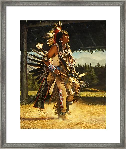 Dance Of His Fathers Framed Print