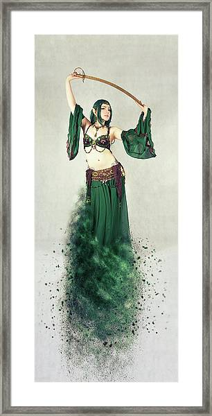 Dance Of The Belly Framed Print
