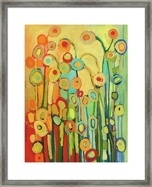 Dance Of The Flower Pods Framed Print