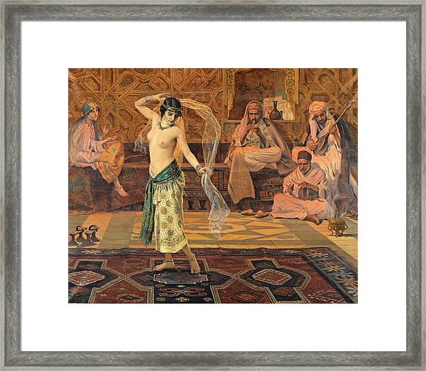 Framed Print featuring the painting Dance Of The Seven Veils by Otto Pilny