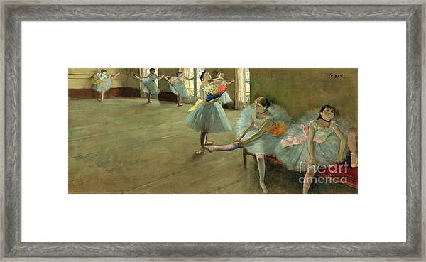 Dancers In The Classroom Framed Print