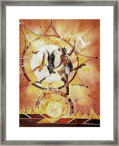 Dances With Eagles Large Framed Print