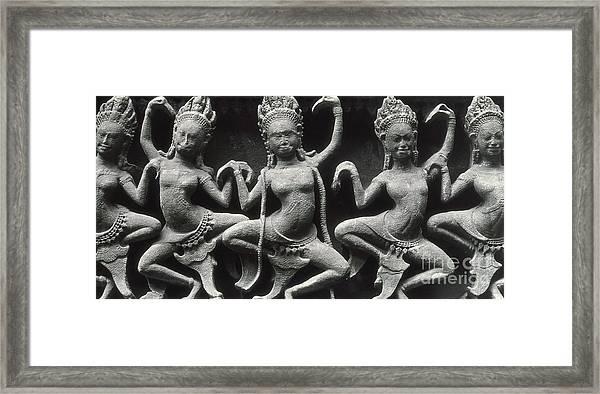 Dancing Apsarasas Framed Print