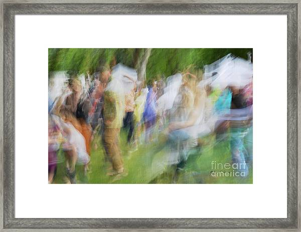 Dancing At The Music Festival Framed Print