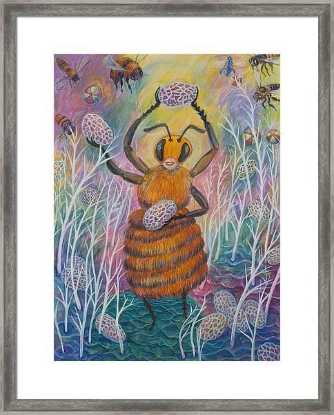 Dancing Bee Framed Print