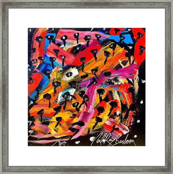 Dancing Car Keys Framed Print