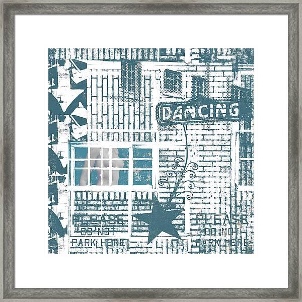 Dancing Collage Framed Print