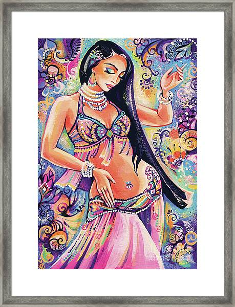 Dancing In The Mystery Of Shahrazad Framed Print