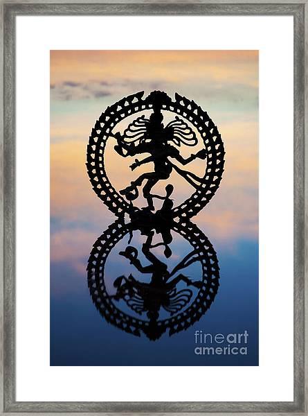 Dancing On The Sea Of Samsara Framed Print