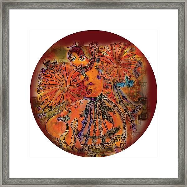 Dancing Shiva Framed Print