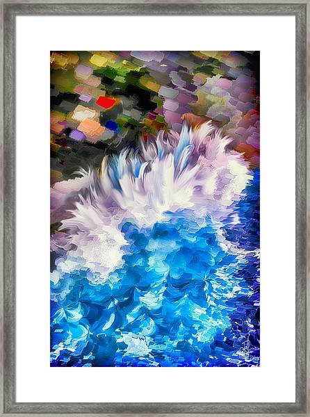 Dancing Swells Framed Print