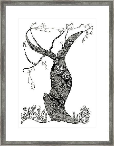 Dancing Tree Framed Print