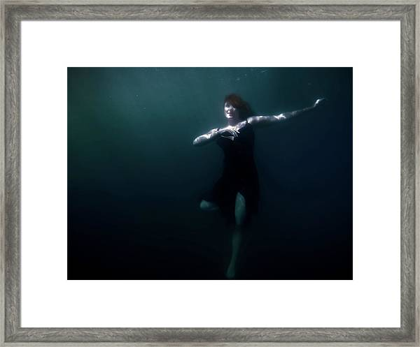 Dancing Under The Water Framed Print
