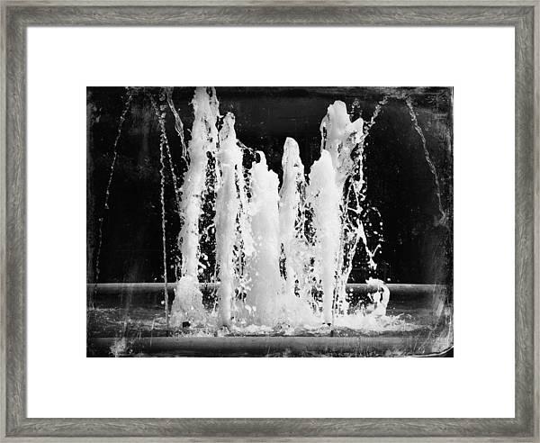 Dancing Waters B/w Framed Print