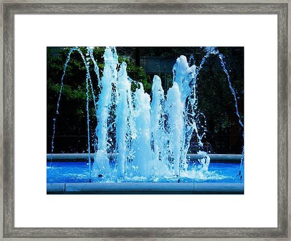 Dancing Waters Blue Framed Print