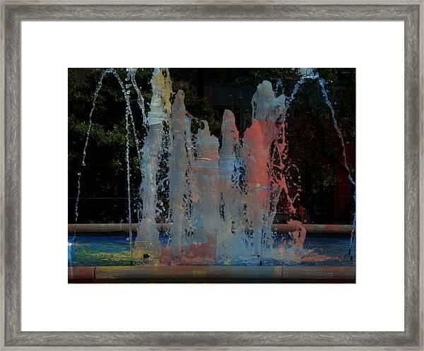 Dancing Waters Kaleidoscope Framed Print