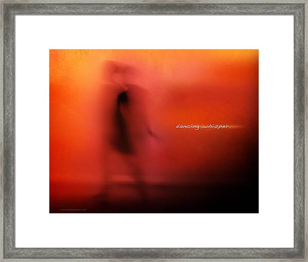 Framed Print featuring the mixed media Dancing Whisper by Shevon Johnson