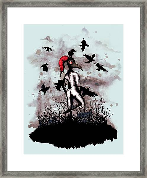 Dancing With Crows Framed Print
