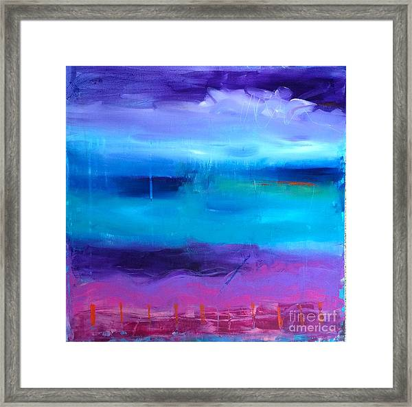 Dancing With The Colours  Framed Print