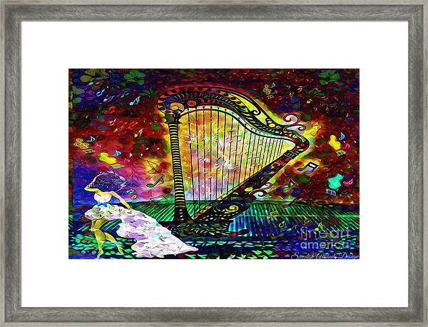 Dancing With The Harp Framed Print