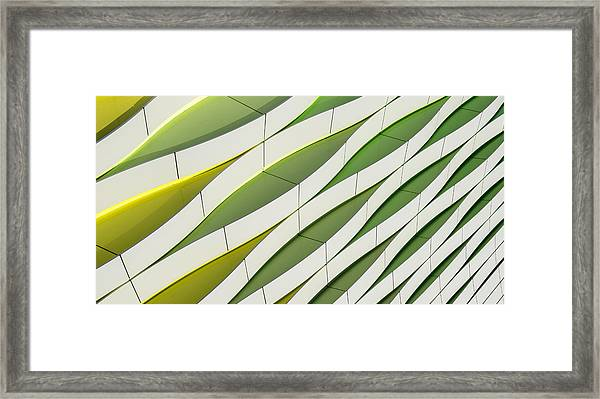 Dancing Yellow And Green Framed Print