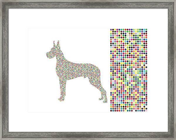 Dane Dots Framed Print
