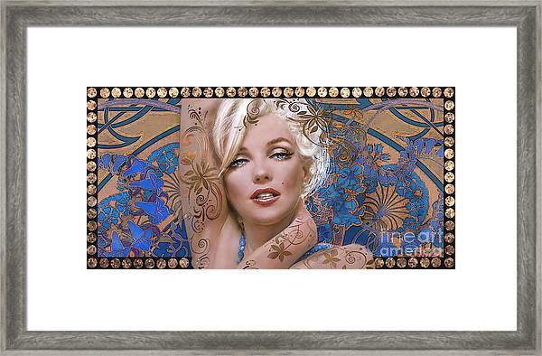 Danella Students 2 Blue Framed Print