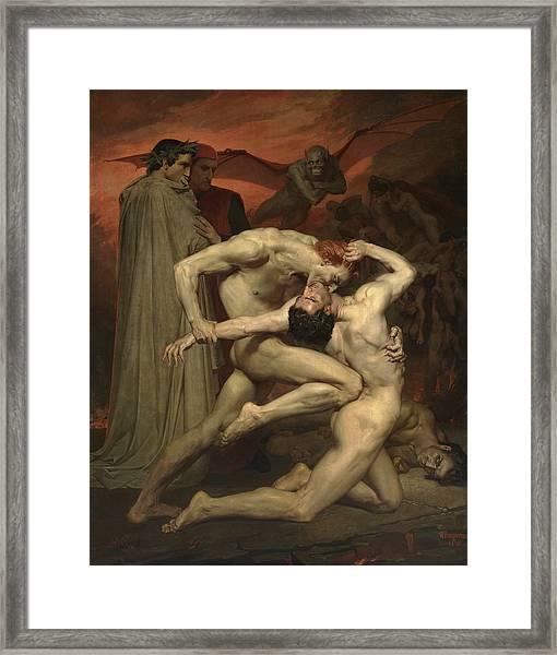Dante And Virgil Framed Print