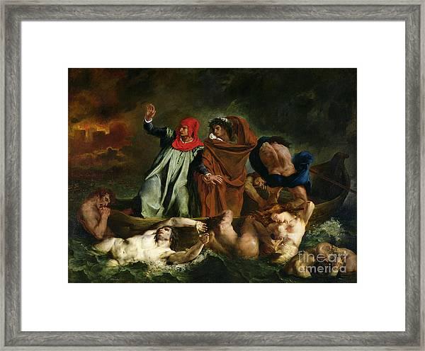 Dante And Virgil In The Underworld Framed Print