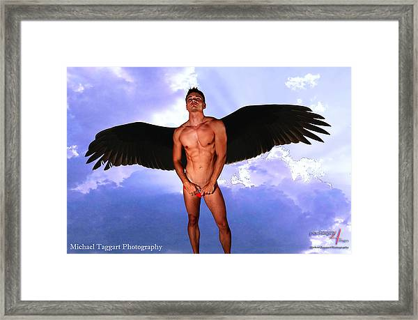 Framed Print featuring the photograph Dark Angel by Michael Taggart