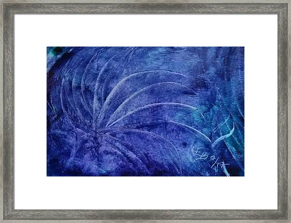 Dark Blue Abstract Framed Print