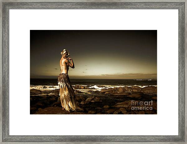 Dark Dramatic Fine Art Beauty Framed Print