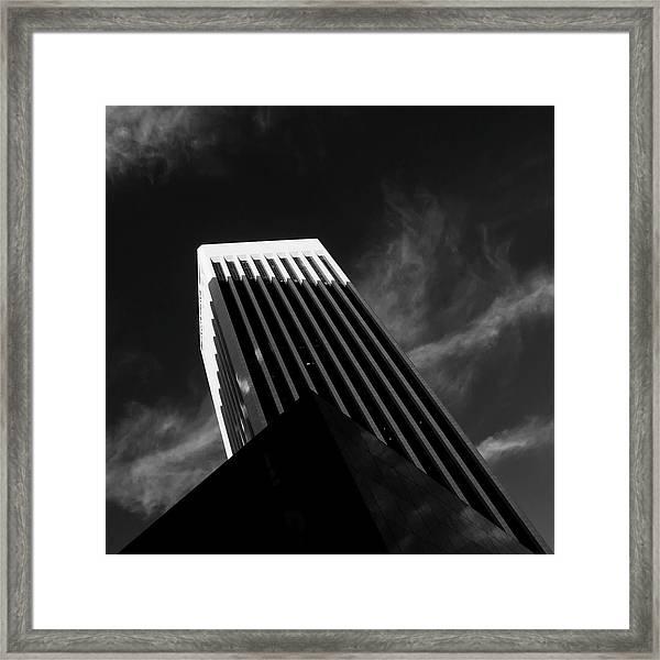 Dark Geometry Framed Print