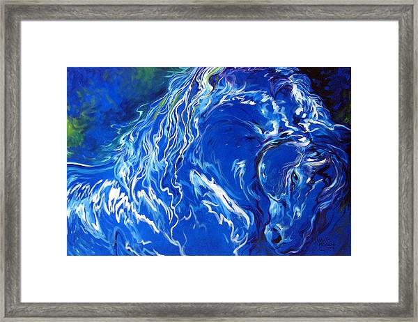 Dark Horse Abstract Framed Print