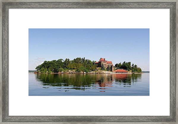 Dark Island Framed Print
