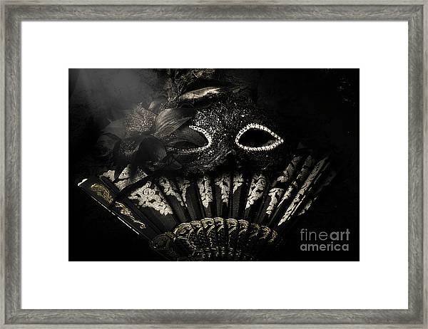 Dark Night Carnival Affair Framed Print