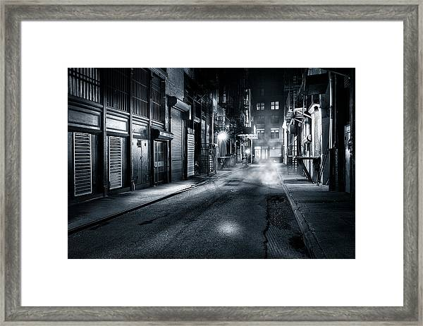 Dark Nyc Framed Print